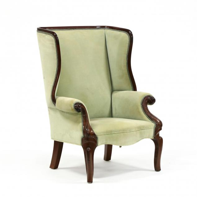american-rococo-revival-carved-mahogany-wing-back-chair