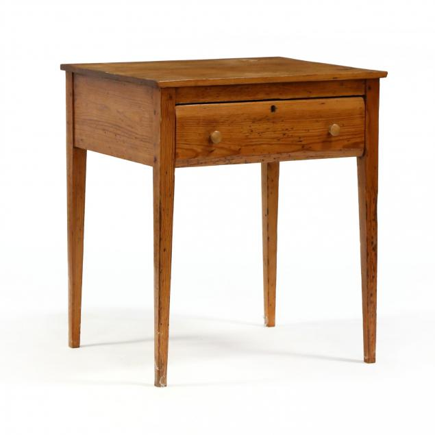 southern-federal-yellow-pine-one-drawer-work-table