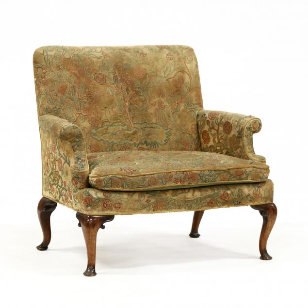 english-queen-anne-upholstered-and-carved-mahogany-settee