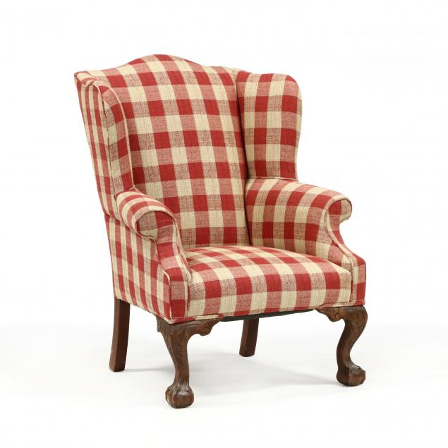 chippendale-style-carved-mahogany-easy-chair