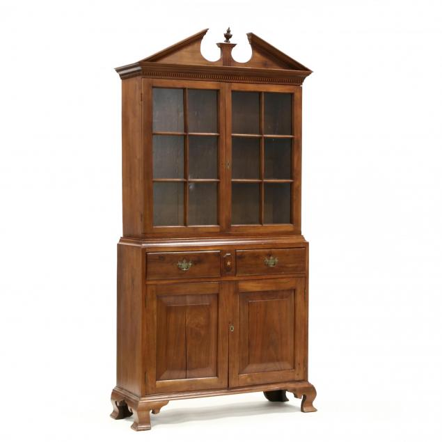 north-carolina-chippendale-walnut-china-press