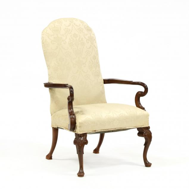 queen-anne-style-carved-mahogany-lolling-chair