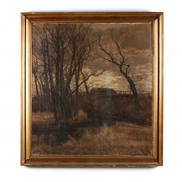 an-antique-continental-nocturne-landscape-painting