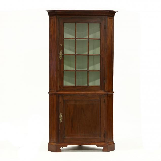 antique-english-mahogany-corner-cupboard