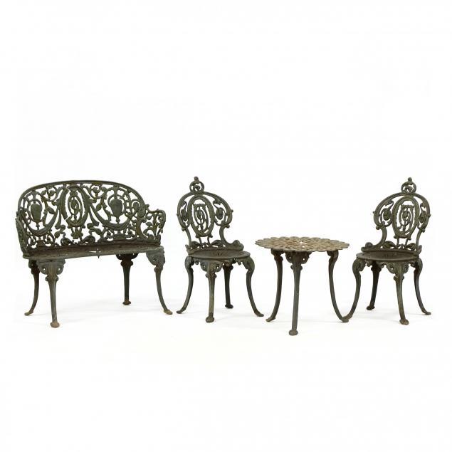atlanta-stove-works-four-piece-vintage-iron-garden-set