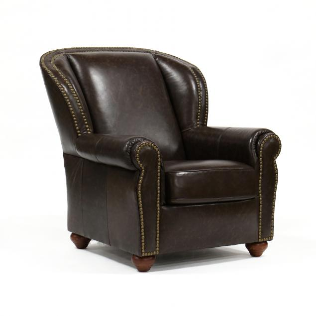 contemporary-leather-upholstered-club-chair