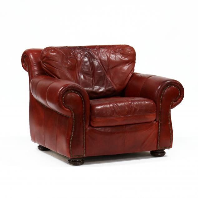 contemporary-red-leather-club-chair