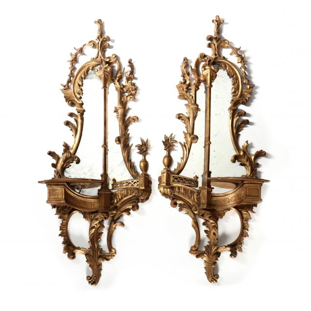 pair-of-vintage-italian-carved-and-gilt-mirrored-bracket-shelves