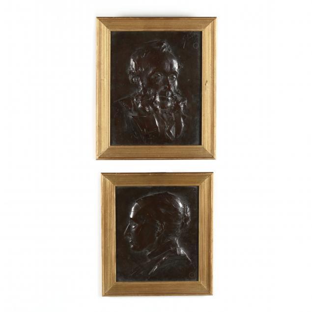 william-s-shanks-scottish-1864-1951-a-pair-of-bronze-portrait-plaques