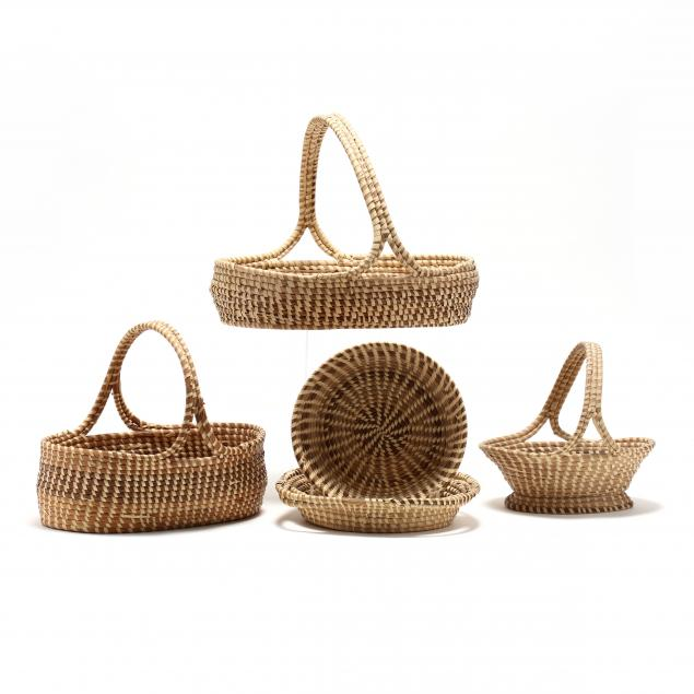 a-group-of-five-contemporary-sweetgrass-baskets