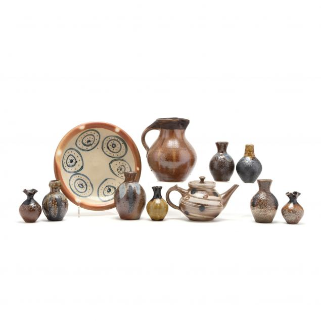 nc-pottery-mark-hewitt-grouping-of-eleven-pieces