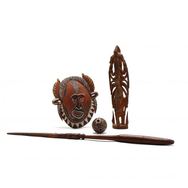four-examples-of-tribal-art-from-new-guinea