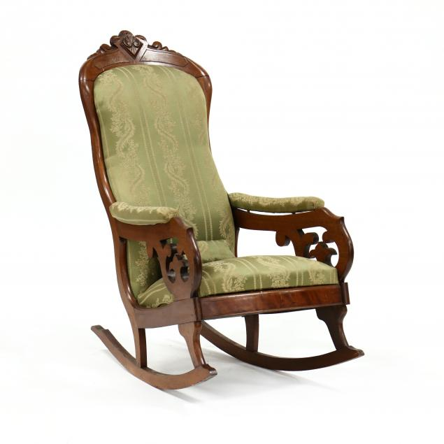 thomas-day-american-classical-carved-walnut-rocking-chair