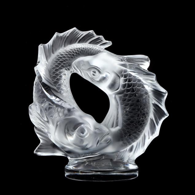 lalique-crystal-large-double-fish-sculpture