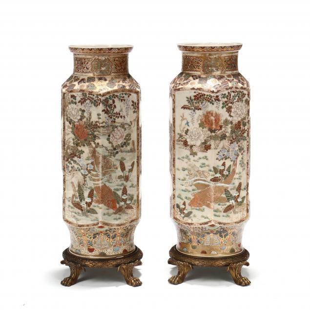 a-pair-of-large-japanese-satsuma-hexagon-floor-vases