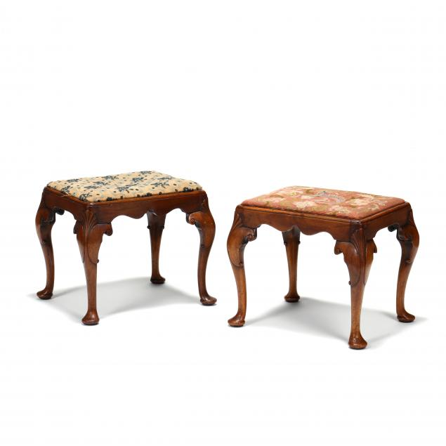 pair-of-english-queen-anne-carved-mahogany-stools