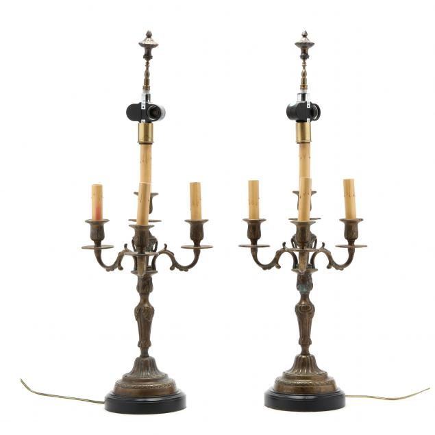 pair-of-continental-bronze-candelabra-table-lamps