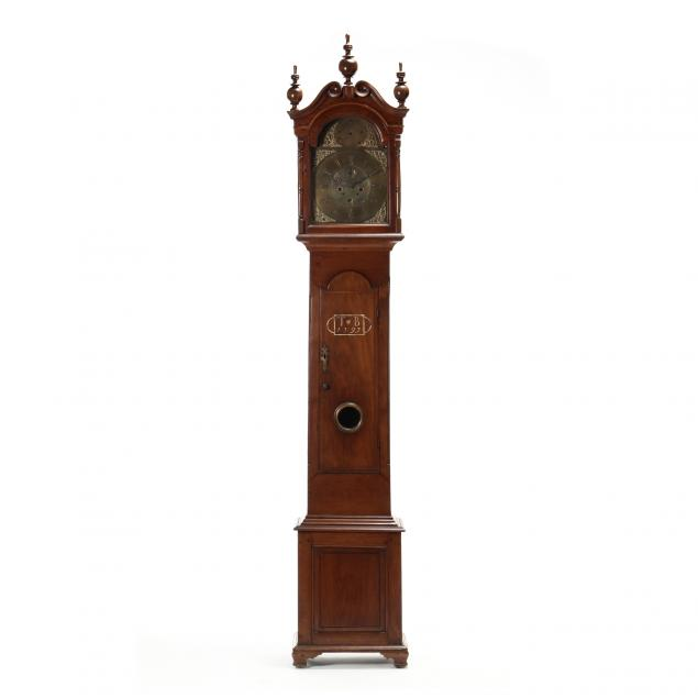 rare-north-carolina-chippendale-sulfur-inlaid-walnut-tall-case-clock