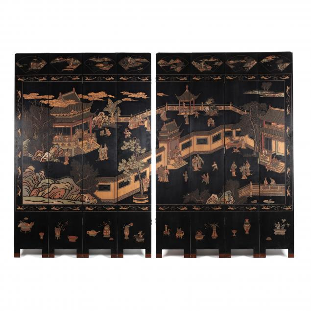 chinese-large-eight-panel-carved-and-lacquered-floor-screen