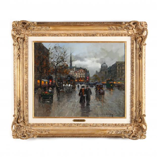 edouard-cortes-french-1884-1969-i-place-saint-michel-paris-i