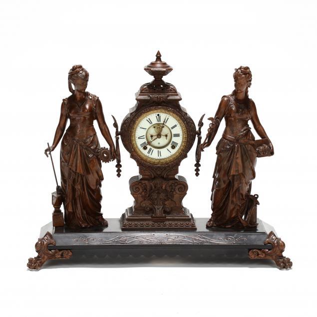 ansonia-clock-co-arts-and-commerce-figural-mantel-clock
