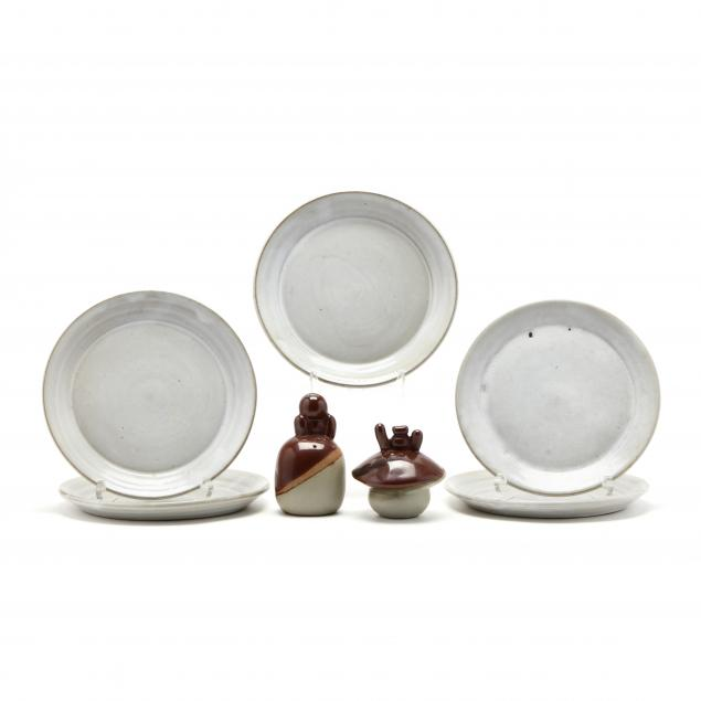 a-contemporary-pottery-group-including-iron-mountain-stoneware