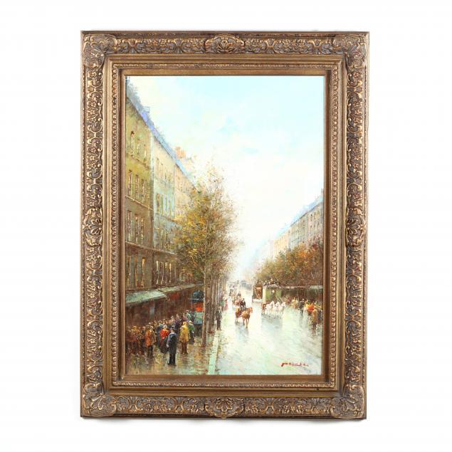 t-e-pencke-b-1929-a-parisian-street-scene