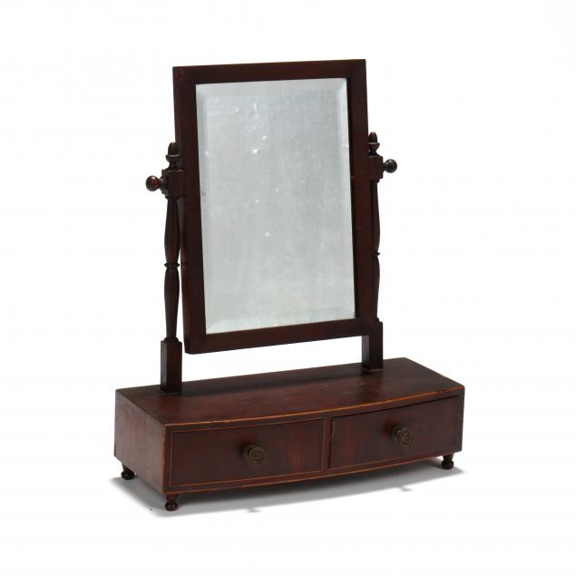 antique-american-mahogany-shaving-mirror