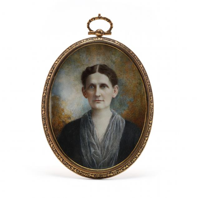 antique-portrait-miniature-of-a-lady