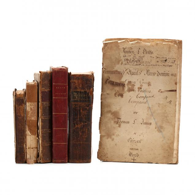 nc-holt-family-early-arithmetic-workbook-and-five-inscribed-volumes