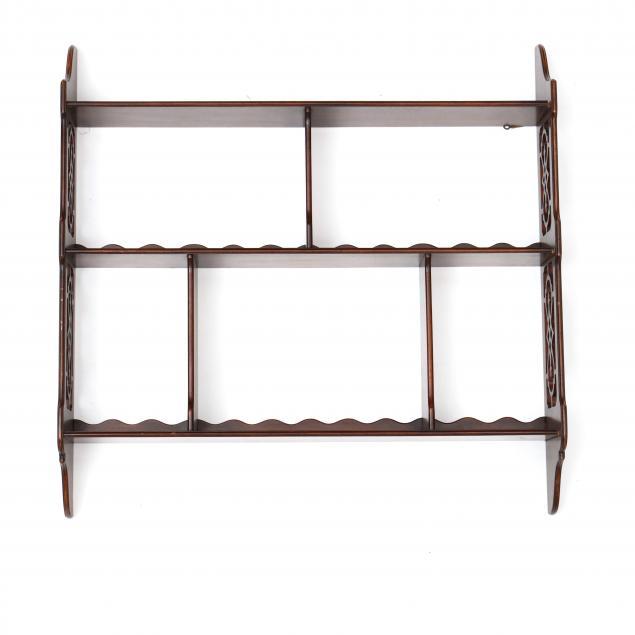 chippendale-style-mahogany-hanging-wall-shelf