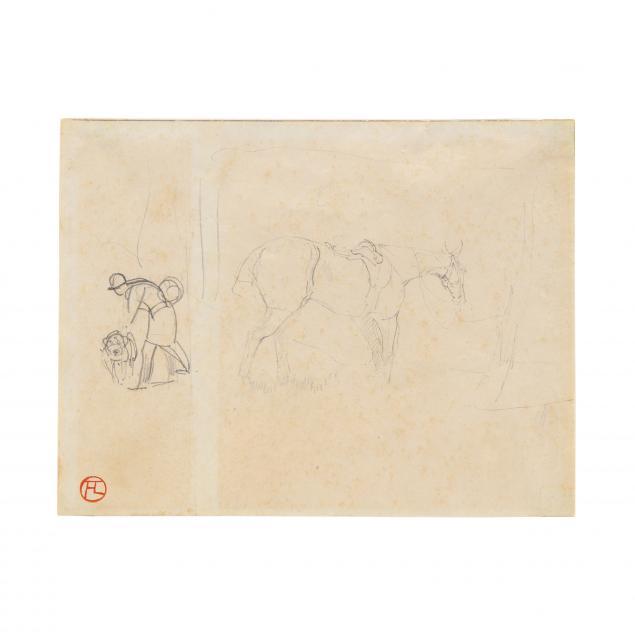 henri-de-toulouse-lautrec-french-1864-1901-i-cheval-et-piqueur-i