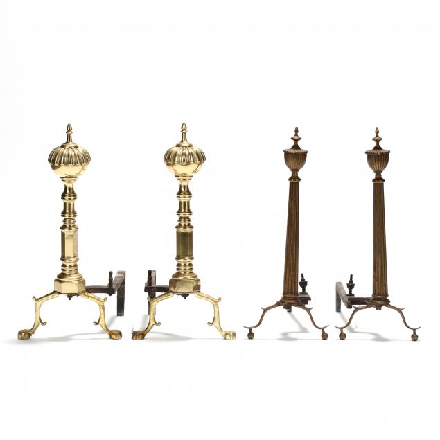 two-pairs-of-continental-andirons