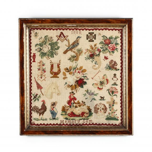 antique-wool-work-memory-gem-sampler