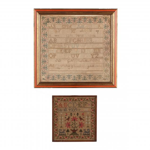 two-antique-american-samplers