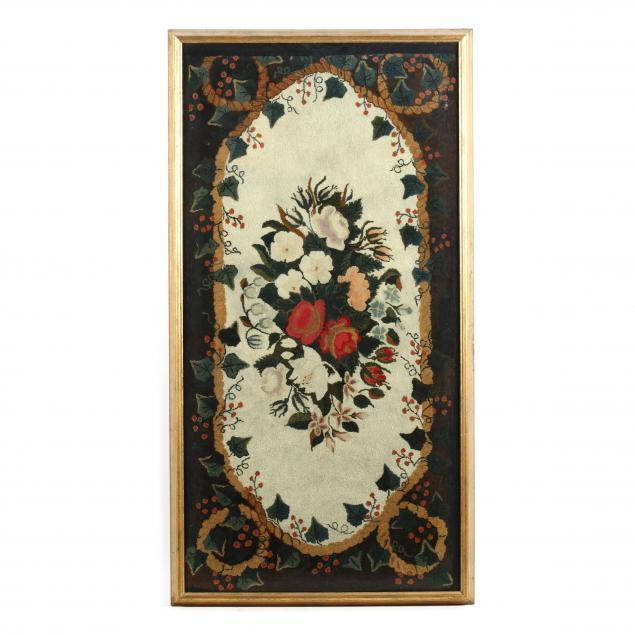 antique-framed-hooked-rug