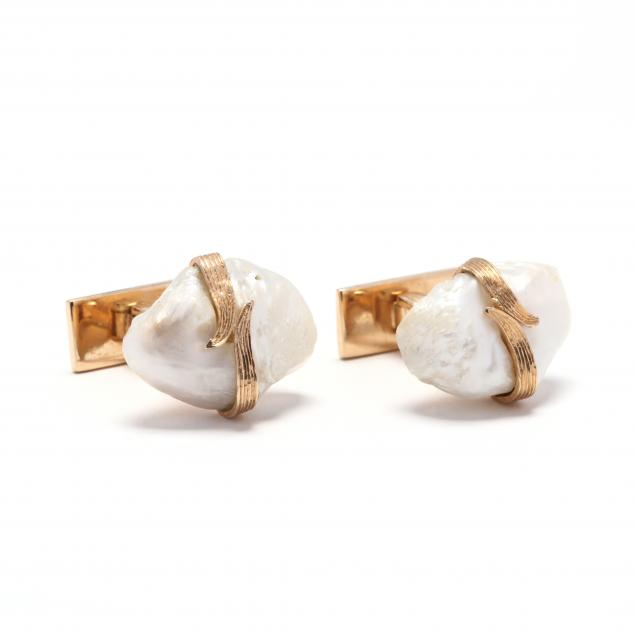14kt-gold-and-pearl-cufflinks-ruser