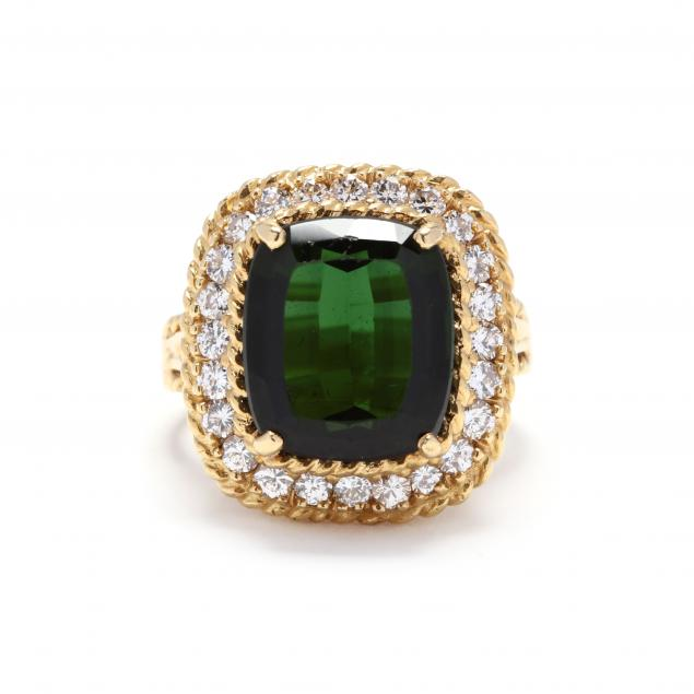 18kt-gold-green-tourmaline-and-diamond-ring