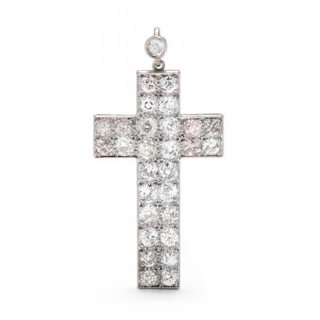 vintage-platinum-and-diamond-cross-pendant