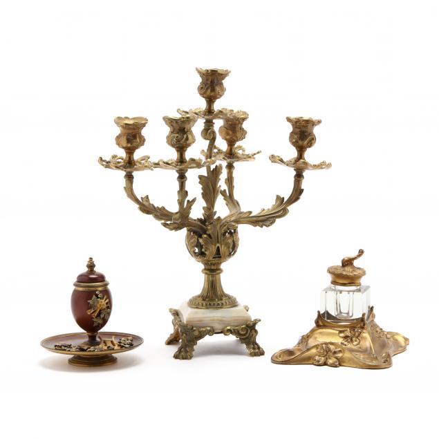 three-antique-french-desk-accessories