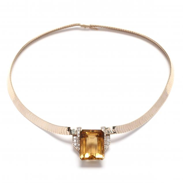 gold-citrine-and-diamond-necklace
