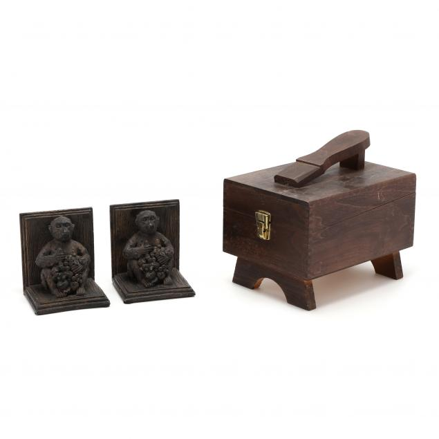 pair-of-bookends-and-shoe-shine-kit