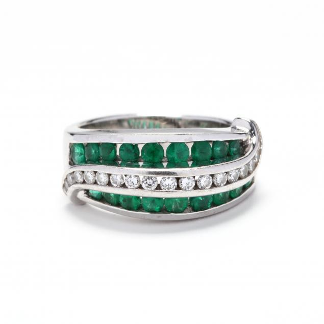18kt-white-gold-diamond-and-emerald-ring-charles-krypell