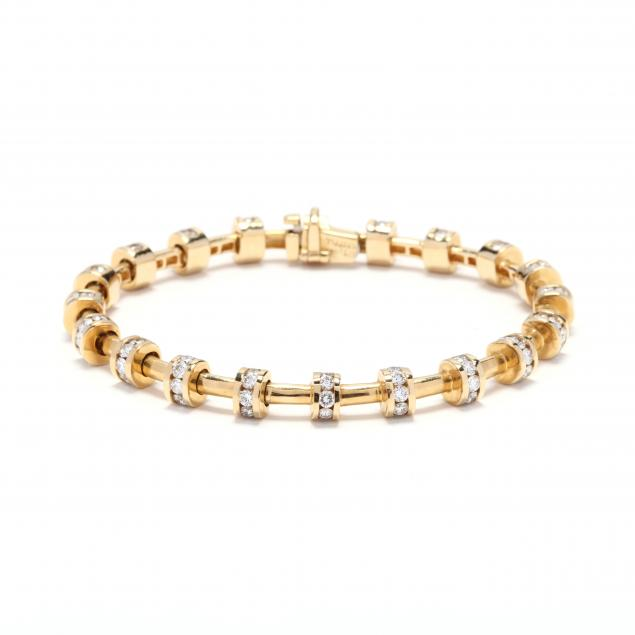 18kt-gold-and-diamond-bracelet-charles-krypell