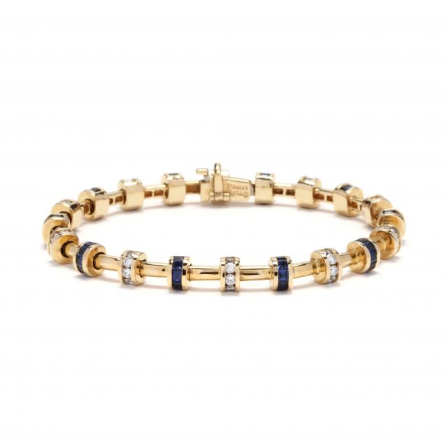 18kt-gold-diamond-and-sapphire-bracelet-charles-krypell