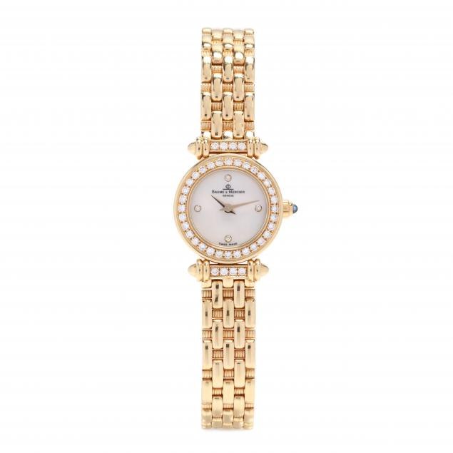 18kt-gold-and-diamond-watch-baume-mercier