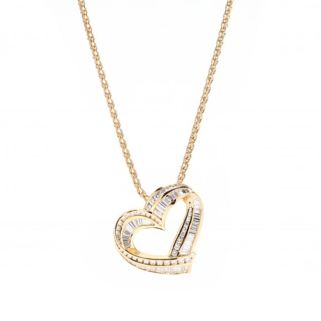 18kt-gold-and-diamond-heart-pendant-necklace-charles-krypell