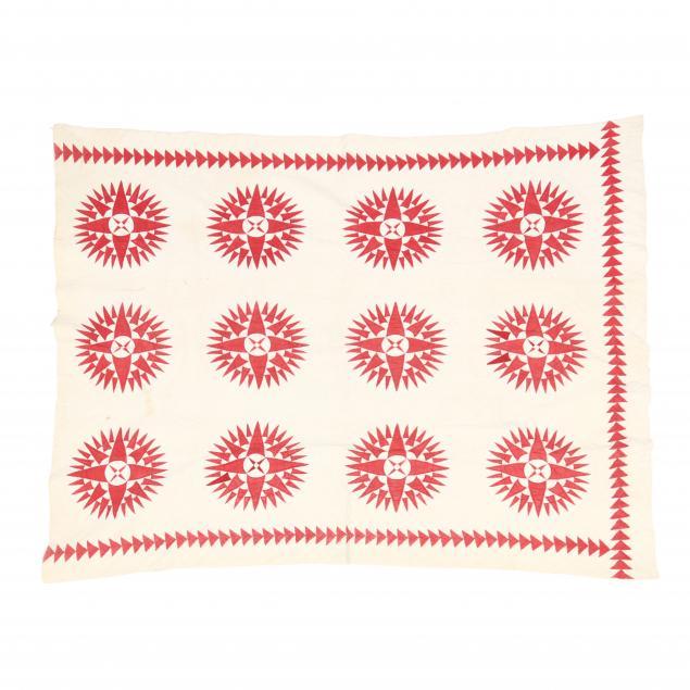 antique-mariner-s-compass-aplique-quilt