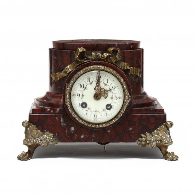 antique-french-ormolu-mounted-marble-pedestal-clock