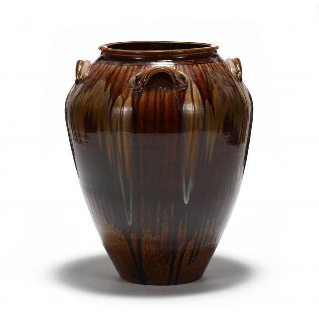 western-nc-pottery-large-kim-ellington-floor-vase